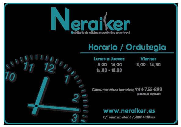 Horario Fondo Transparente - Neraiker